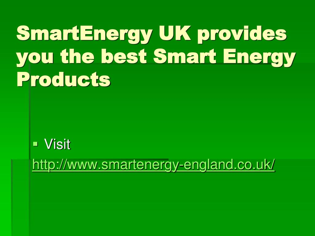 SmartEnergy UK provides you