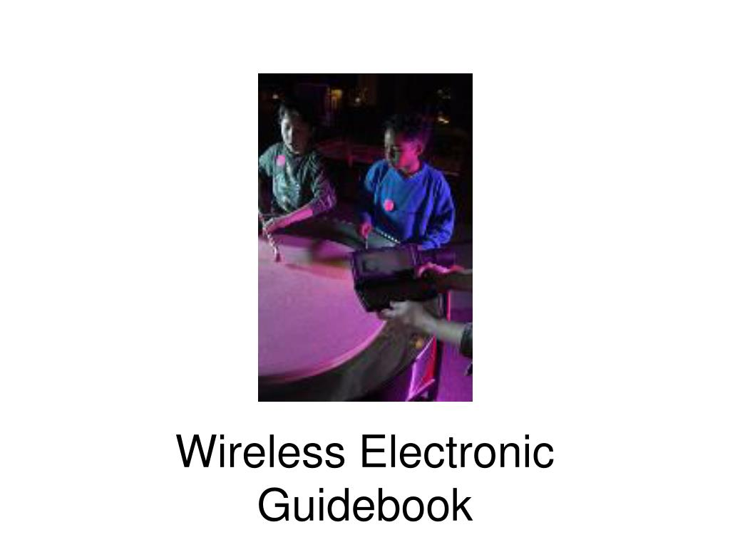 Wireless Electronic Guidebook