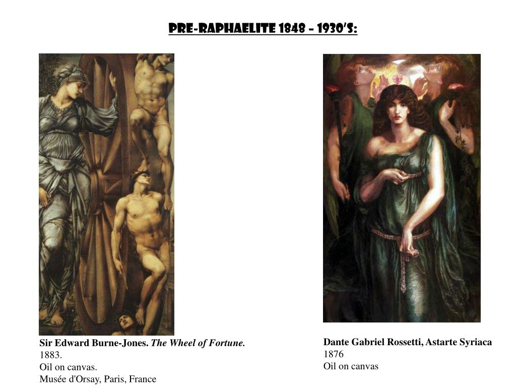 Pre-Raphaelite 1848 – 1930's: