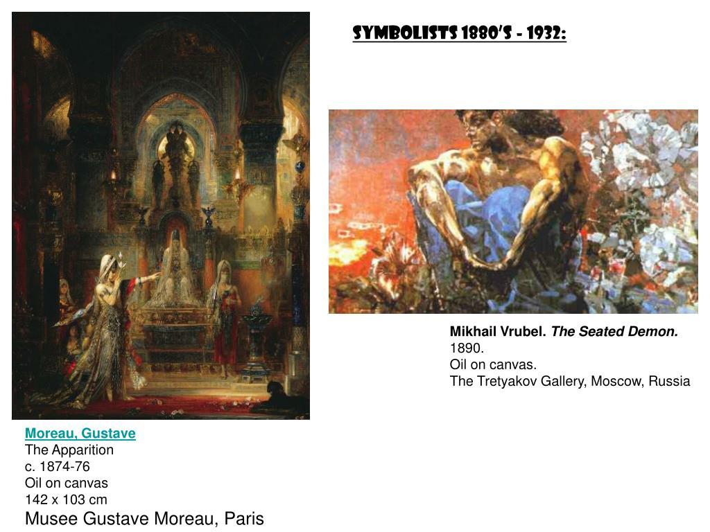 Symbolists 1880's - 1932: