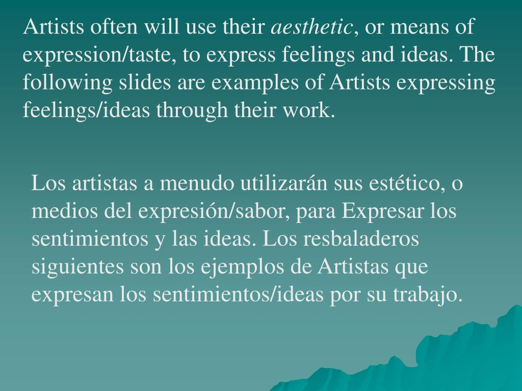 Artists often will use their