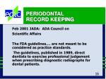 periodontal record keeping16
