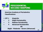 periodontal record keeping19