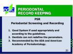 periodontal record keeping20