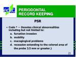 periodontal record keeping21