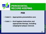 periodontal record keeping22