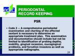 periodontal record keeping24