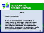 periodontal record keeping25