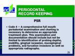 periodontal record keeping26