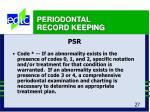 periodontal record keeping27