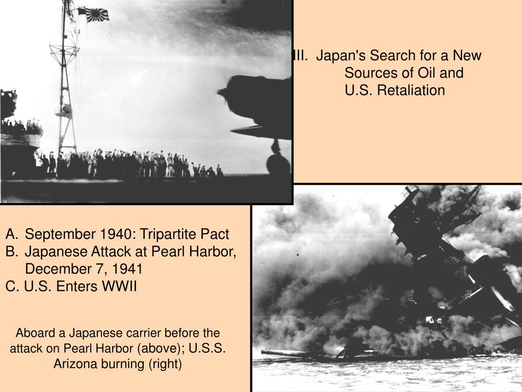 III.  Japan's Search for a New    	Sources of Oil and 	U.S. Retaliation