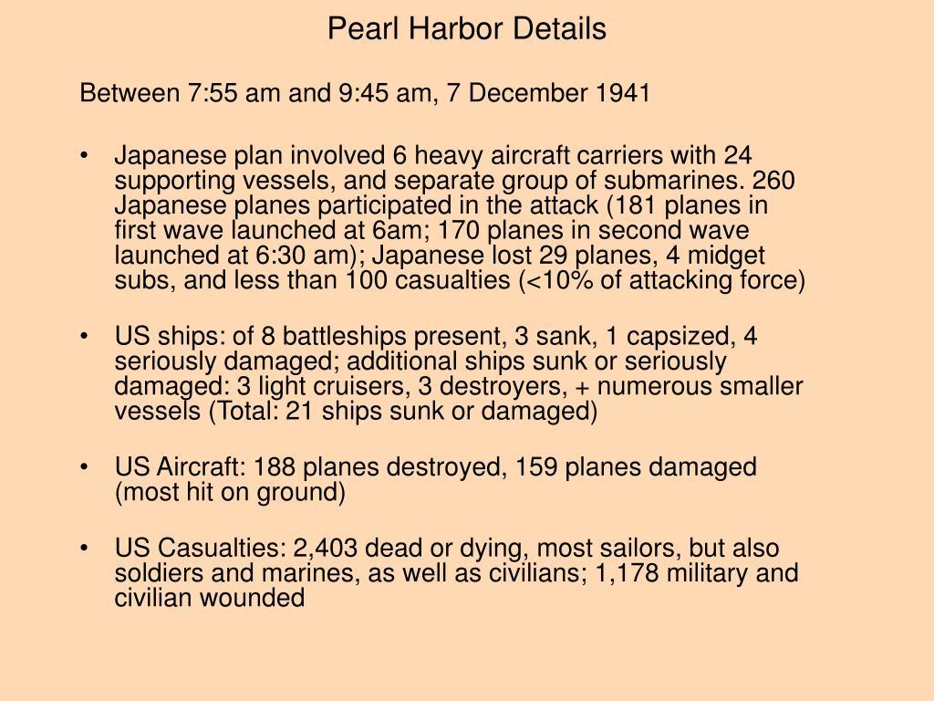 Pearl Harbor Details