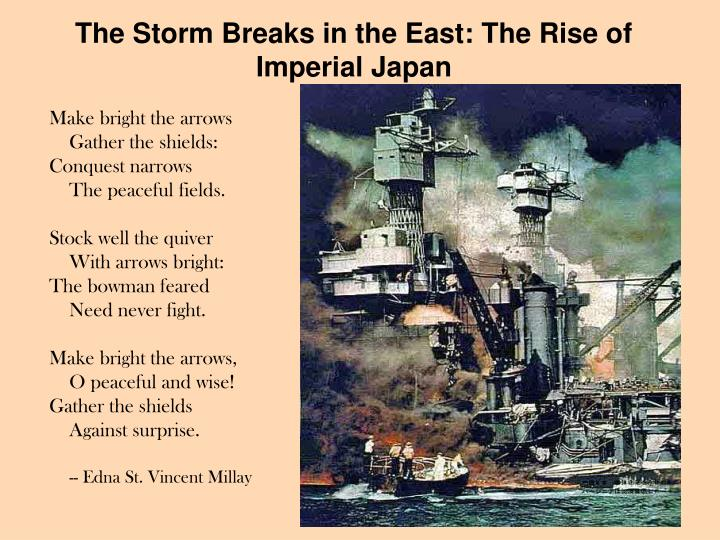 The Storm Breaks in the East: The Rise of Imperial Japan