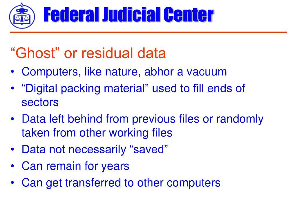 """Ghost"" or residual data"