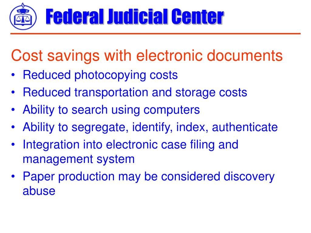 Cost savings with electronic documents