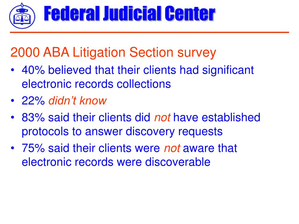 2000 ABA Litigation Section survey