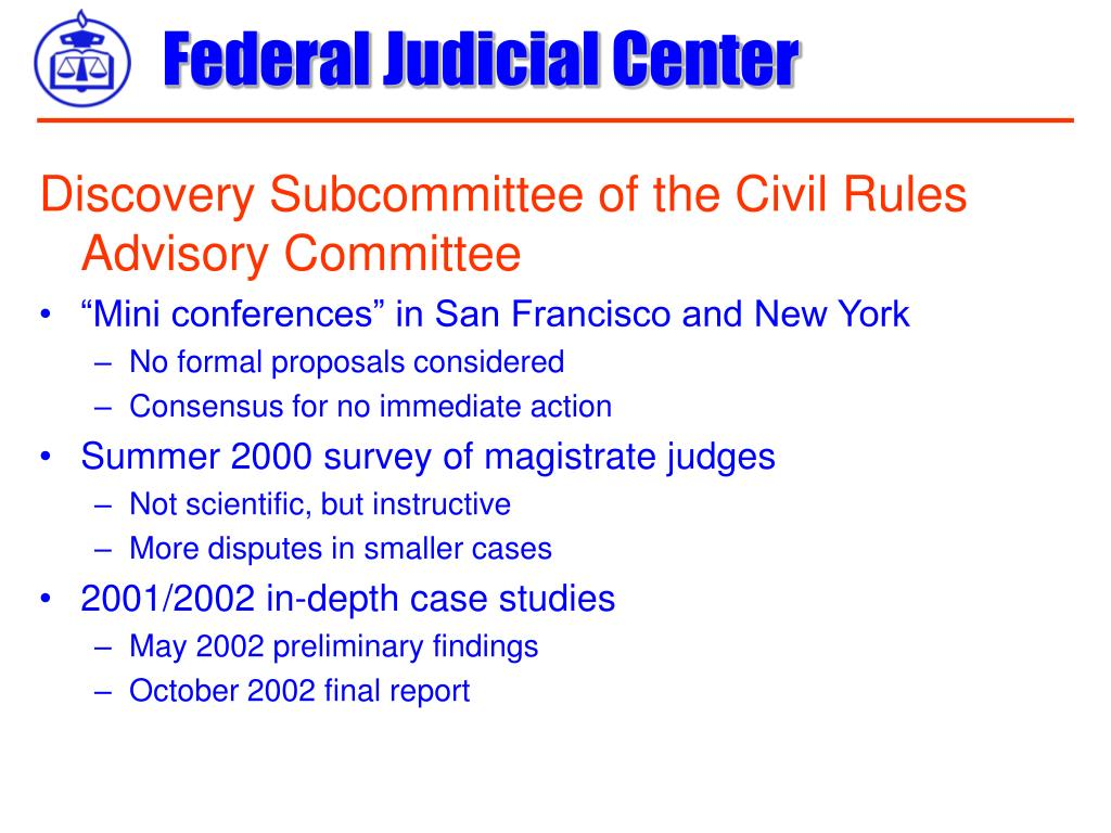 Discovery Subcommittee of the Civil Rules Advisory Committee