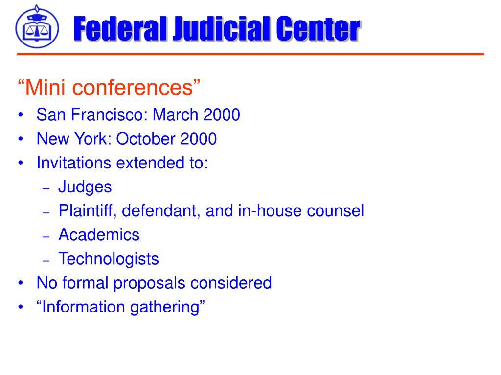 """""""Mini conferences"""""""