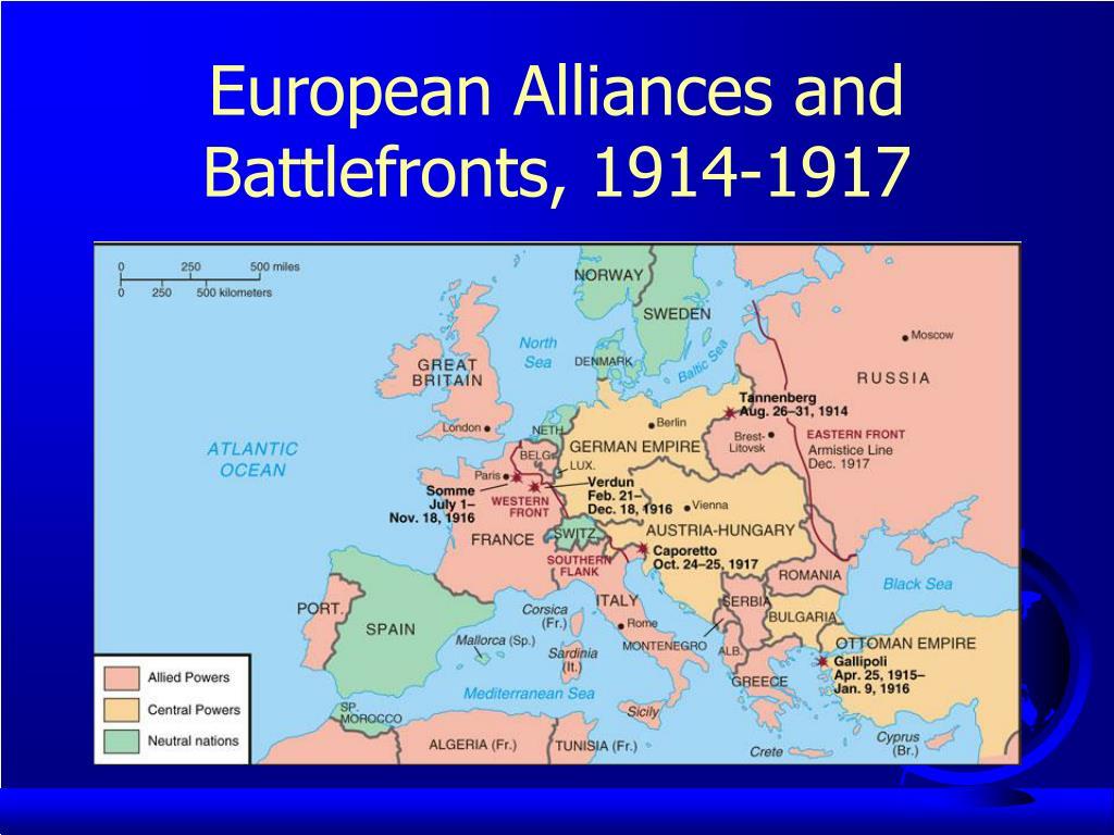 European Alliances and Battlefronts, 1914-1917