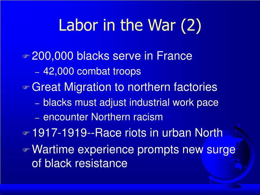 Labor in the War (2)