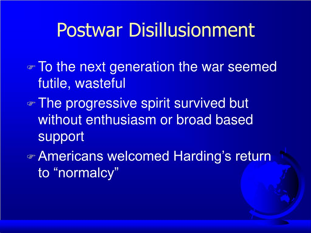 Postwar Disillusionment