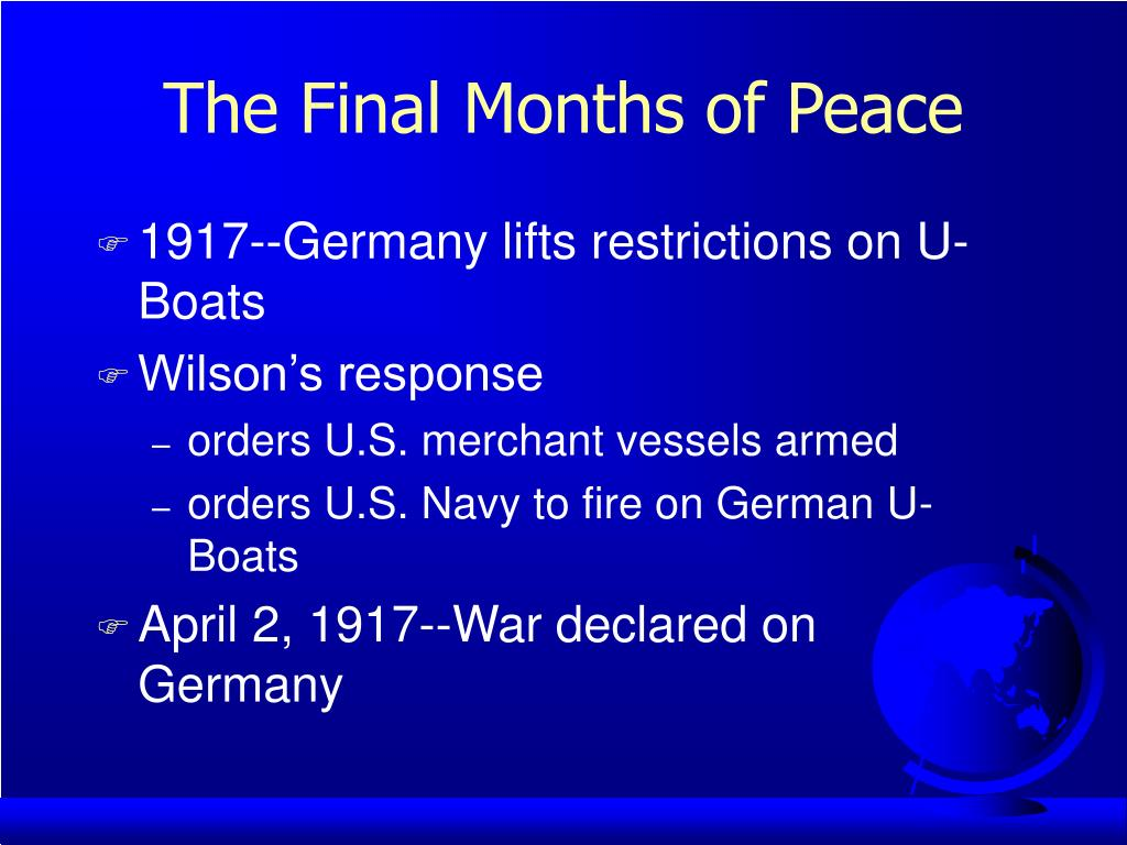 The Final Months of Peace