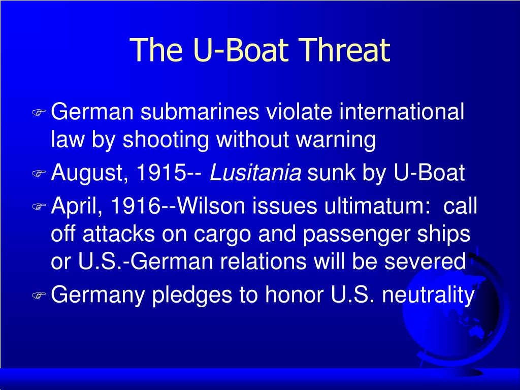 The U-Boat Threat