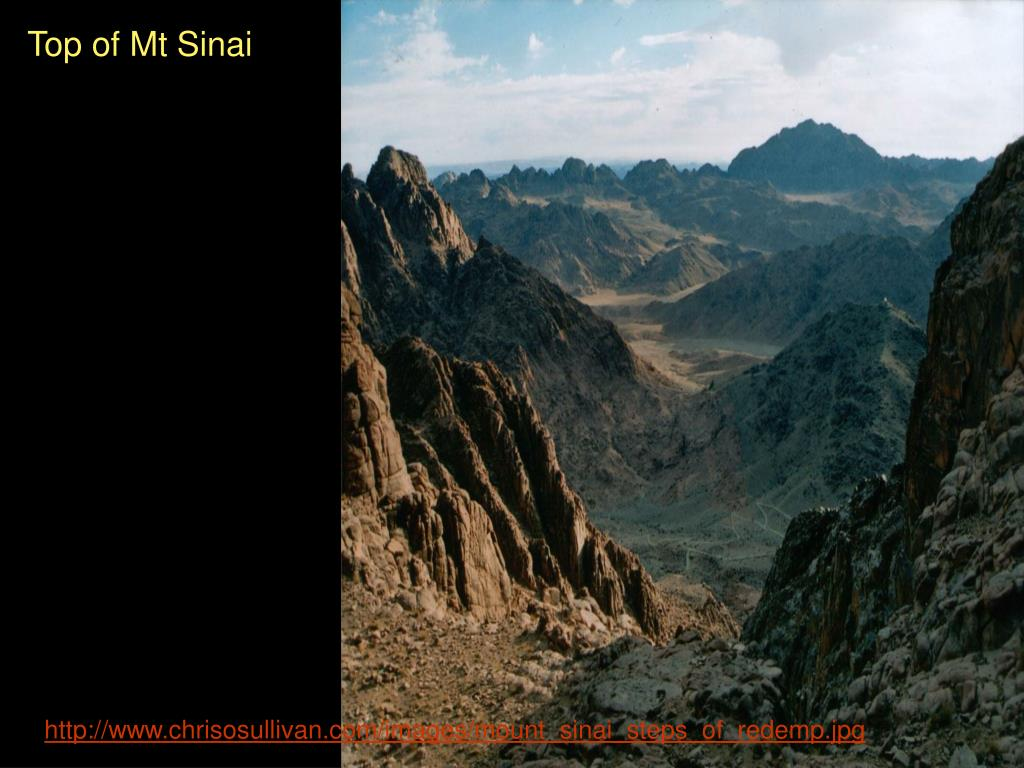 Top of Mt Sinai