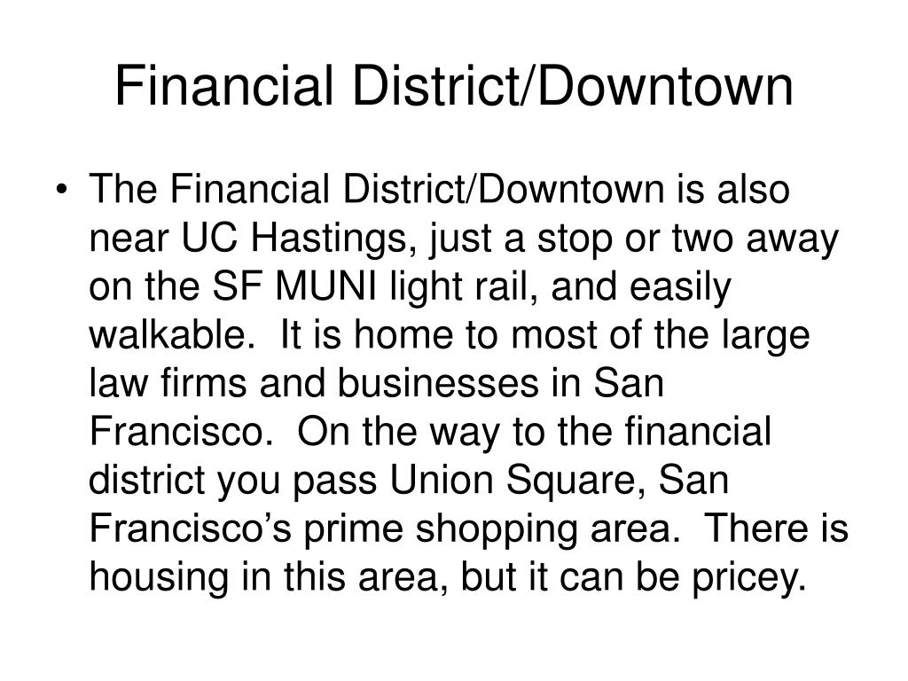 Financial District/Downtown