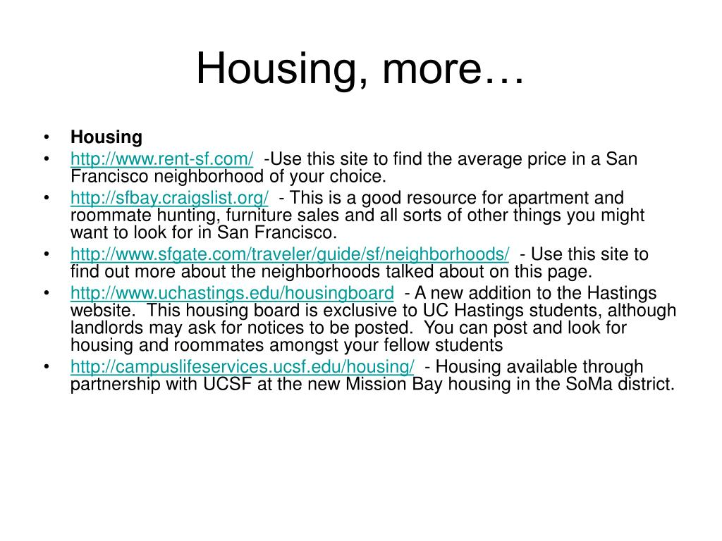 Housing, more…