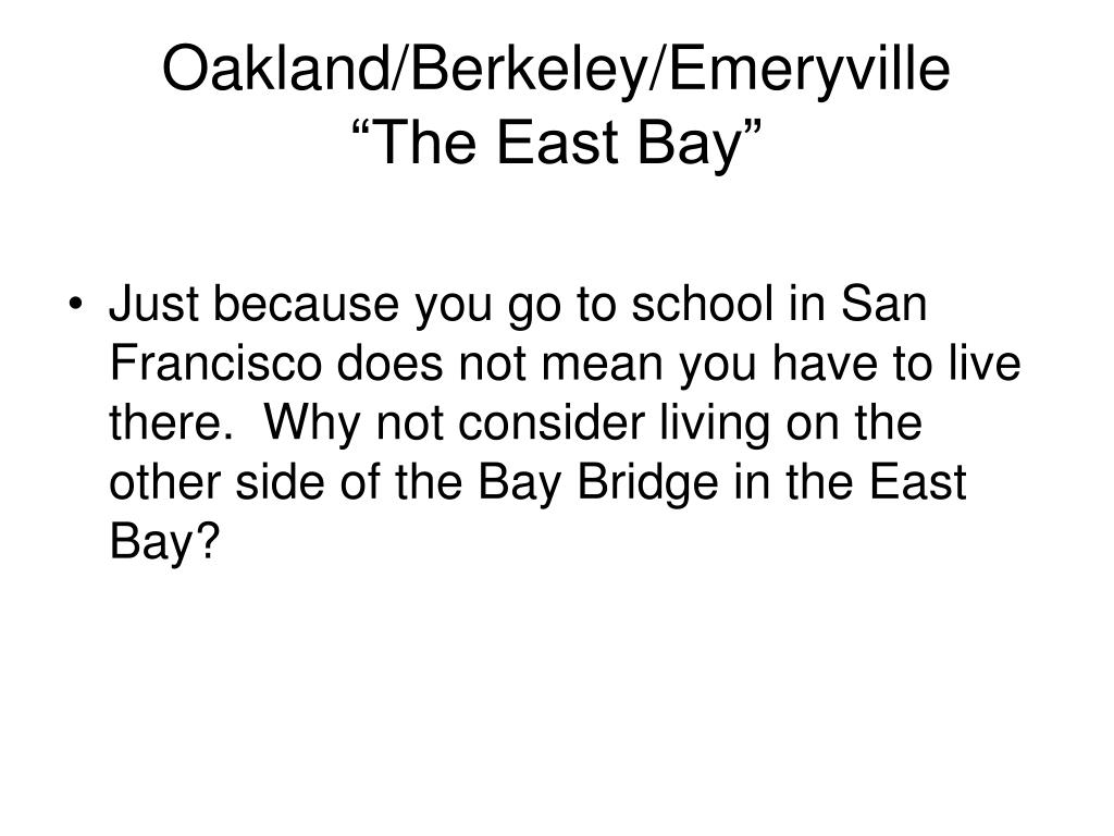 Oakland/Berkeley/Emeryville
