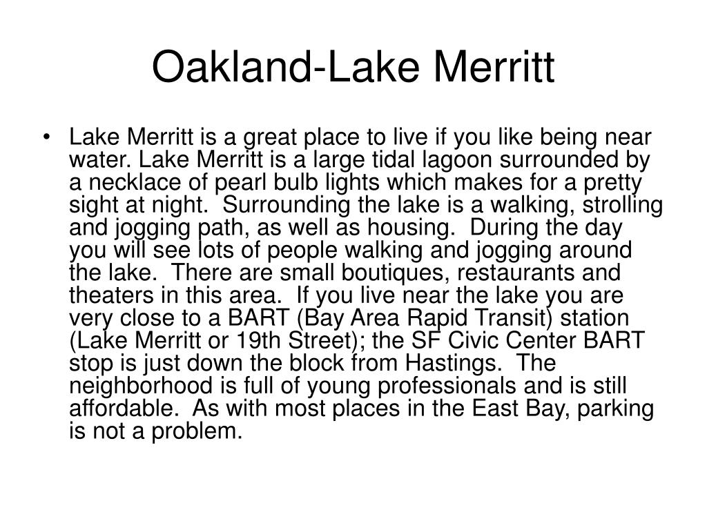 Oakland-Lake Merritt