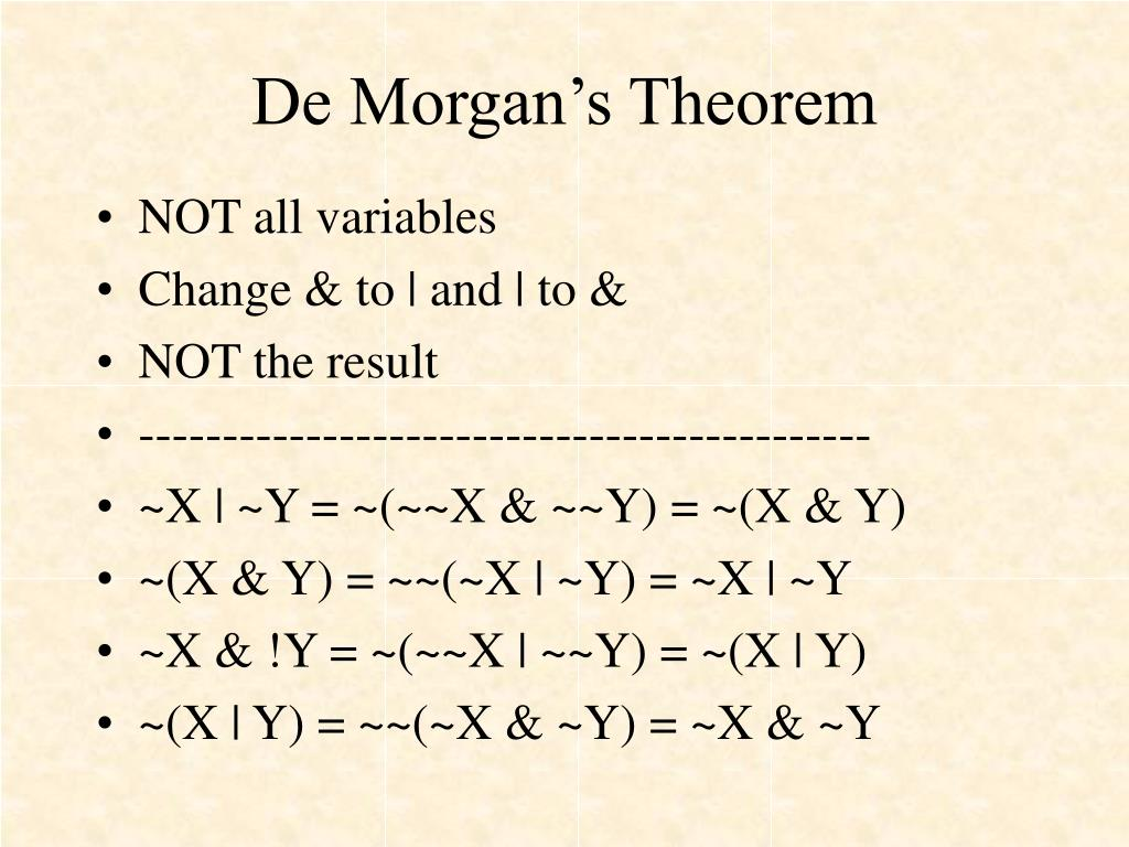 De Morgan's Theorem