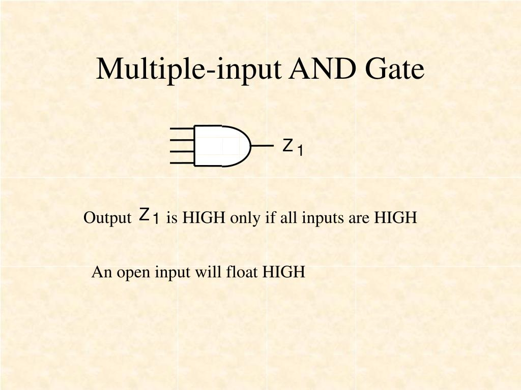 Multiple-input AND Gate