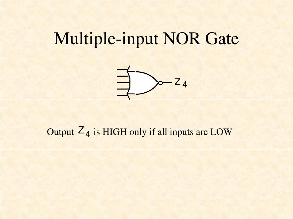 Multiple-input NOR Gate