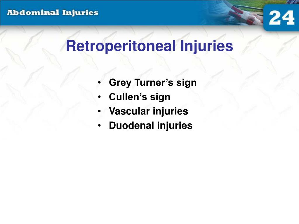Retroperitoneal Injuries