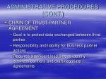 administrative procedures cont