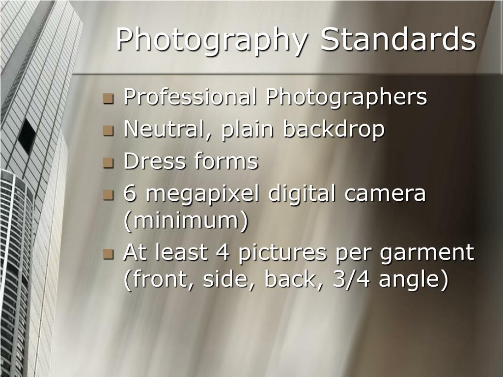 Photography Standards