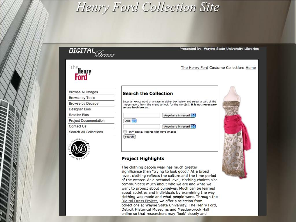 Henry Ford Collection Site