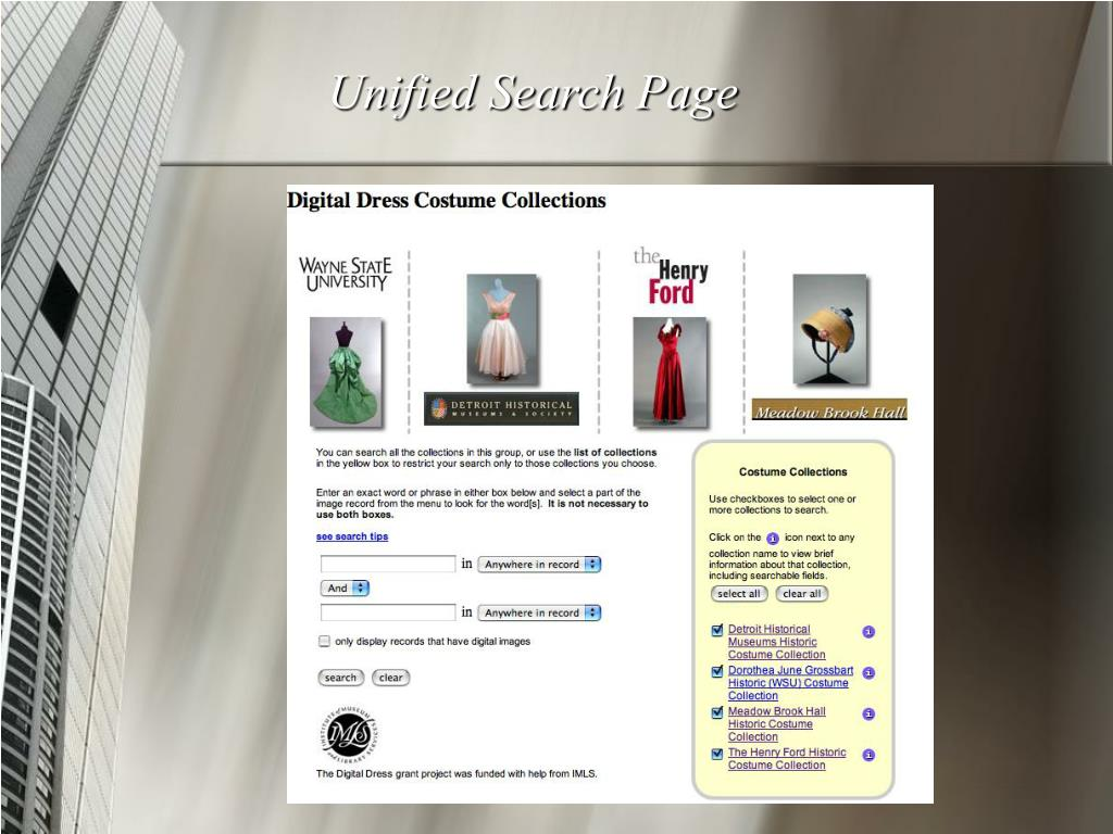 Unified Search Page
