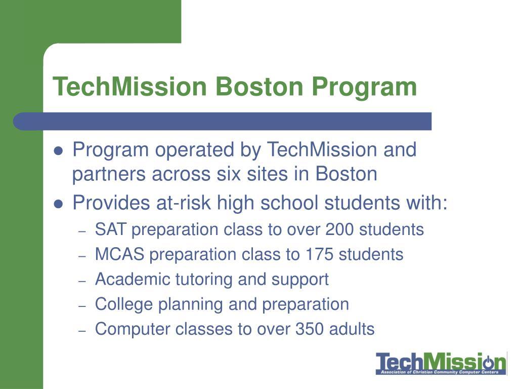 TechMission Boston Program