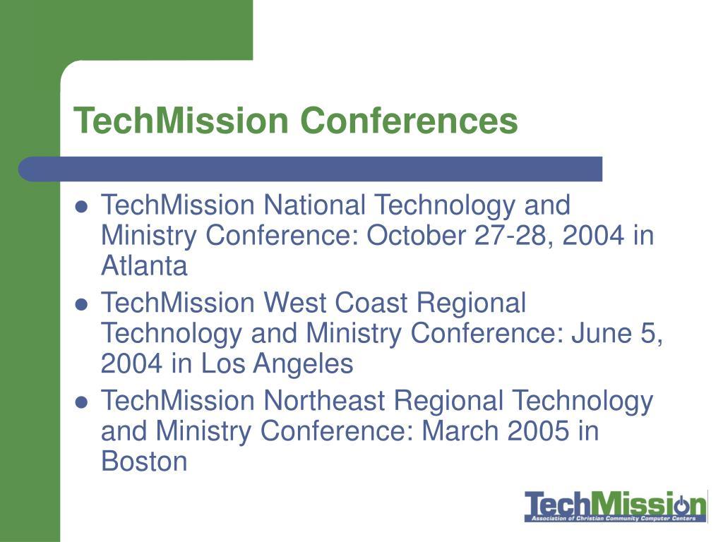 TechMission Conferences