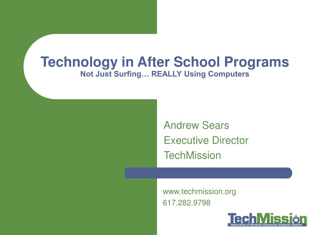 technology in after school programs not just surfing really using computers