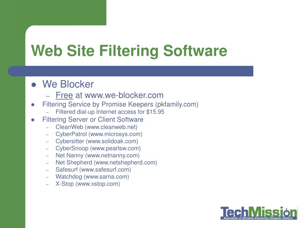 Web Site Filtering Software