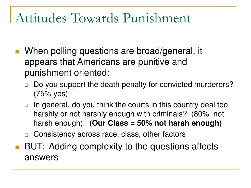 Attitudes Towards Punishment