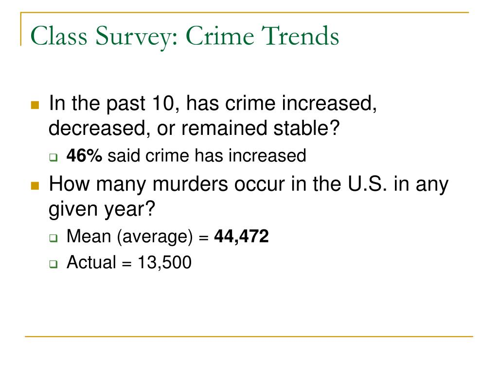 Class Survey: Crime Trends