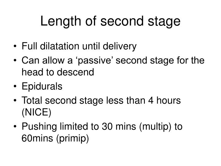 Length of second stage