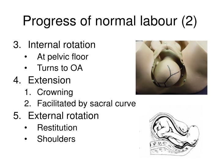 Progress of normal labour (2)
