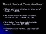 recent new york times headlines