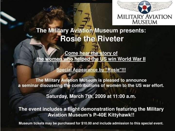 The Military Aviation Museum presents: